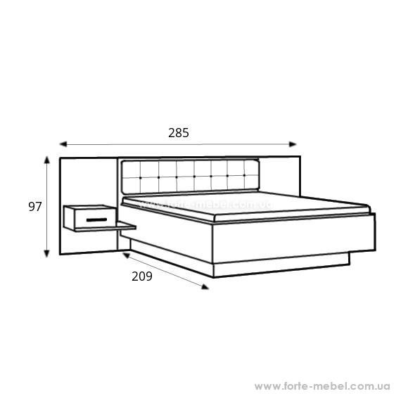 Кровать с тумбочками Bellevue BLQL161B